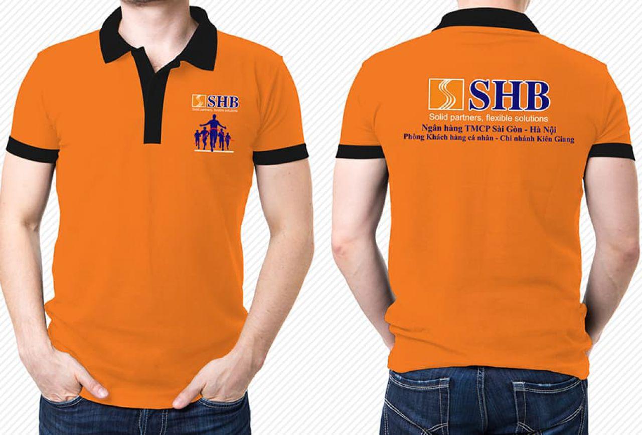 Áo thun đồng phục công ty SHB